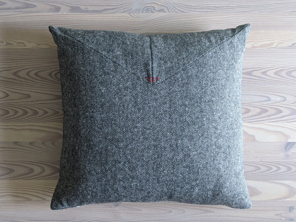 The Chop Pillow in The Hill-side Grey Tweed Slub