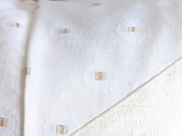 The Chop Pillow in White Dupioni Silk