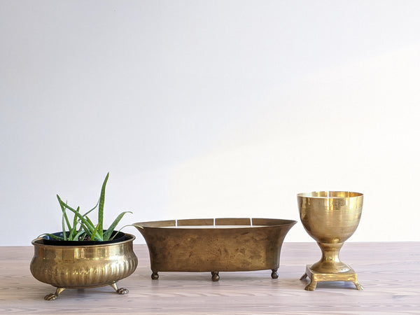 Vintage Brass Centerpiece Candle