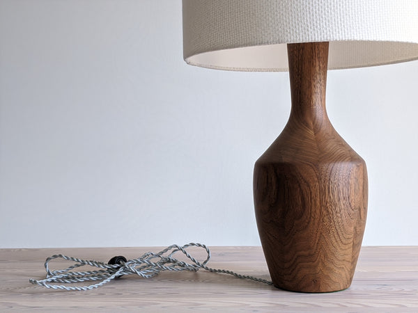 Bespoke Lamp Shade in Natural Crosshatch Fabric