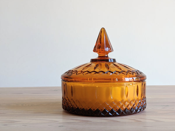 Vintage Candy Dish Candle in Burnt Orange