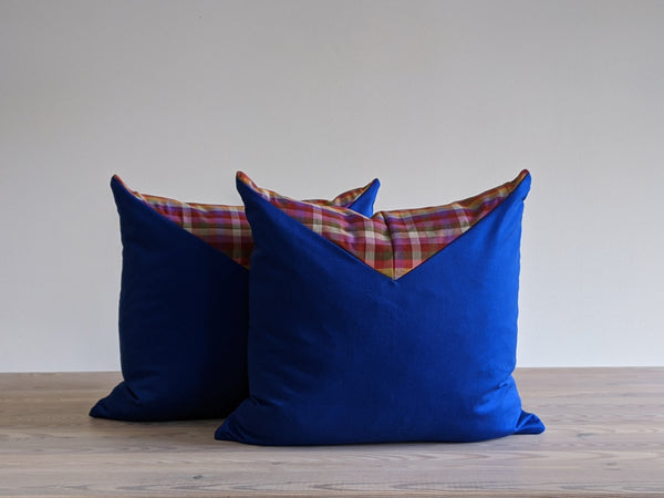 The Chop Pillow in Ultramarine Color Block