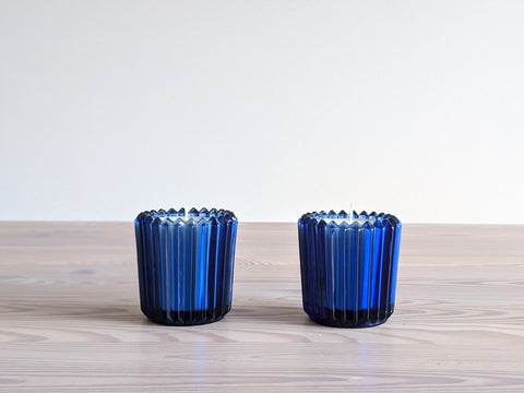 Vintage Cobalt Glass Votive Candles