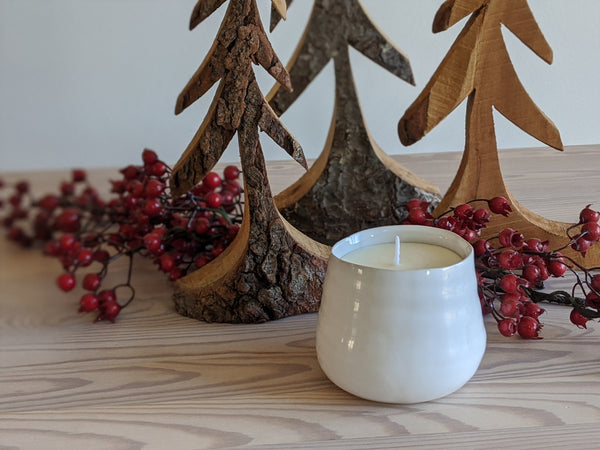 Simple White Candle in Neroli + Jasmine