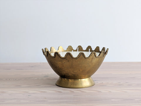 Vintage Brass Crown Candle
