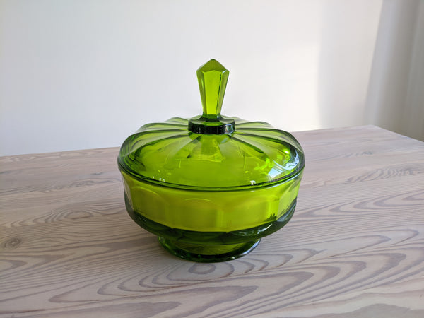 Vintage Candy Dish Candle in Emerald Green