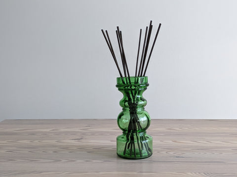 Vintage Green Glass Reed Diffuser