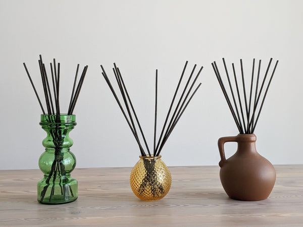 Vintage Honey Glass Reed Diffuser