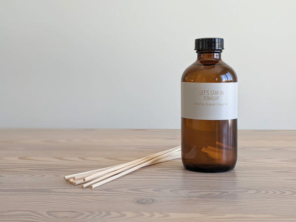 Amber Glass Bottle Reed Diffuser