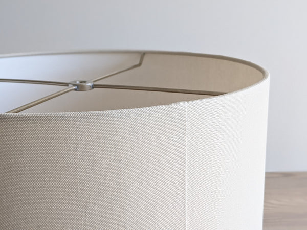 Bespoke Lamp Shade in Cream Cotton Fabric 14 x 10