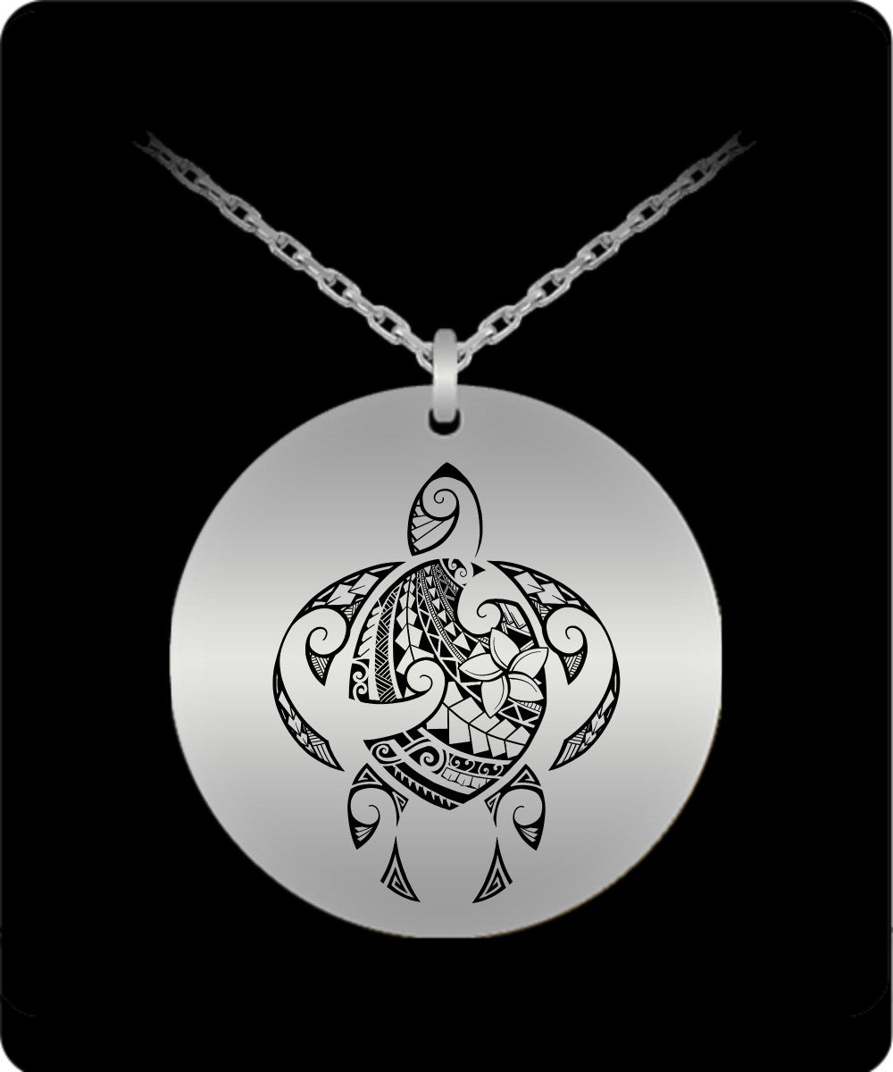 Tribal sea turtle laser engraved necklace shellvation laser engraved necklace tribal sea turtle laser engraved necklace aloadofball Gallery