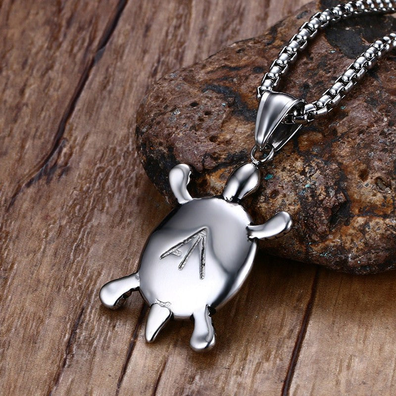 Stainless steel sea turtle pendant necklace shellvation stainless steel sea turtle pendant necklace aloadofball Gallery