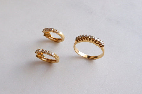14k gold Tiara set