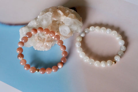 Sunstone & Selenite gemstones