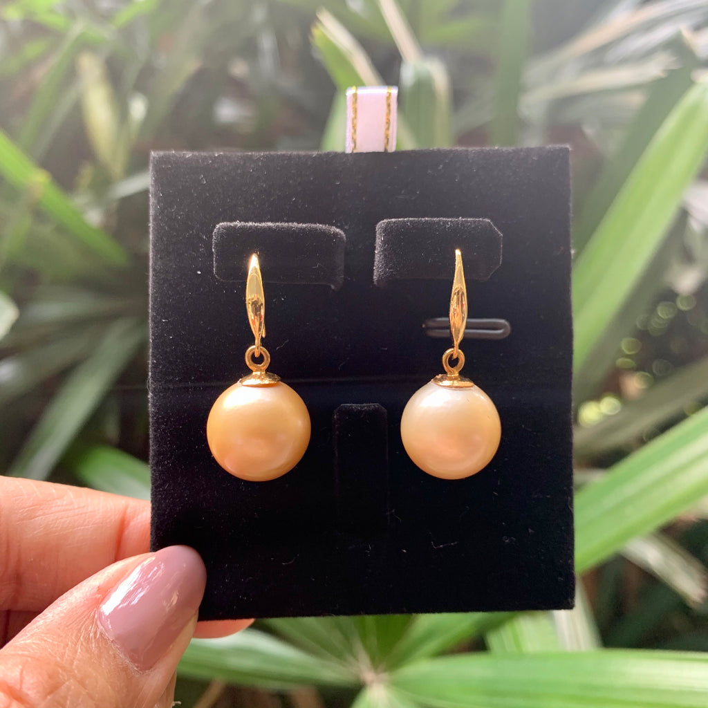 14k gold South sea pearls champagne color