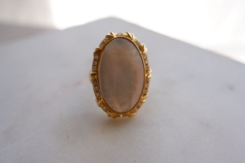 14k gold Retro style ring