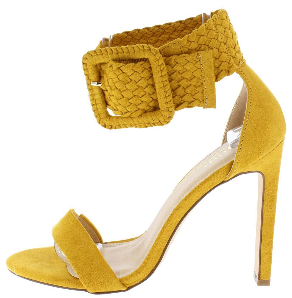 d0bff799e6d Yvy Suede Woman's 2 Strap Heel