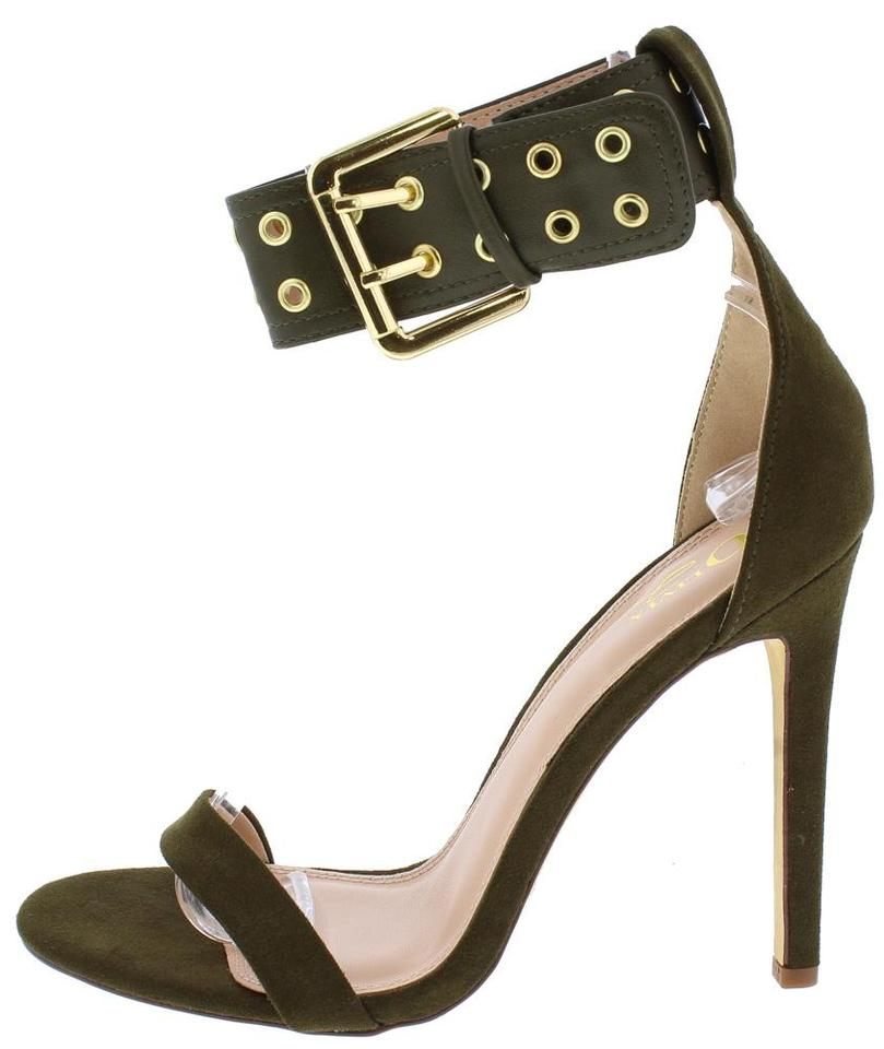 f0565df5d30 HAZEL OLIVE WIDE BUCKLE ANKLE STRAP STILETTO HEEL – LACE Shoe Boutique
