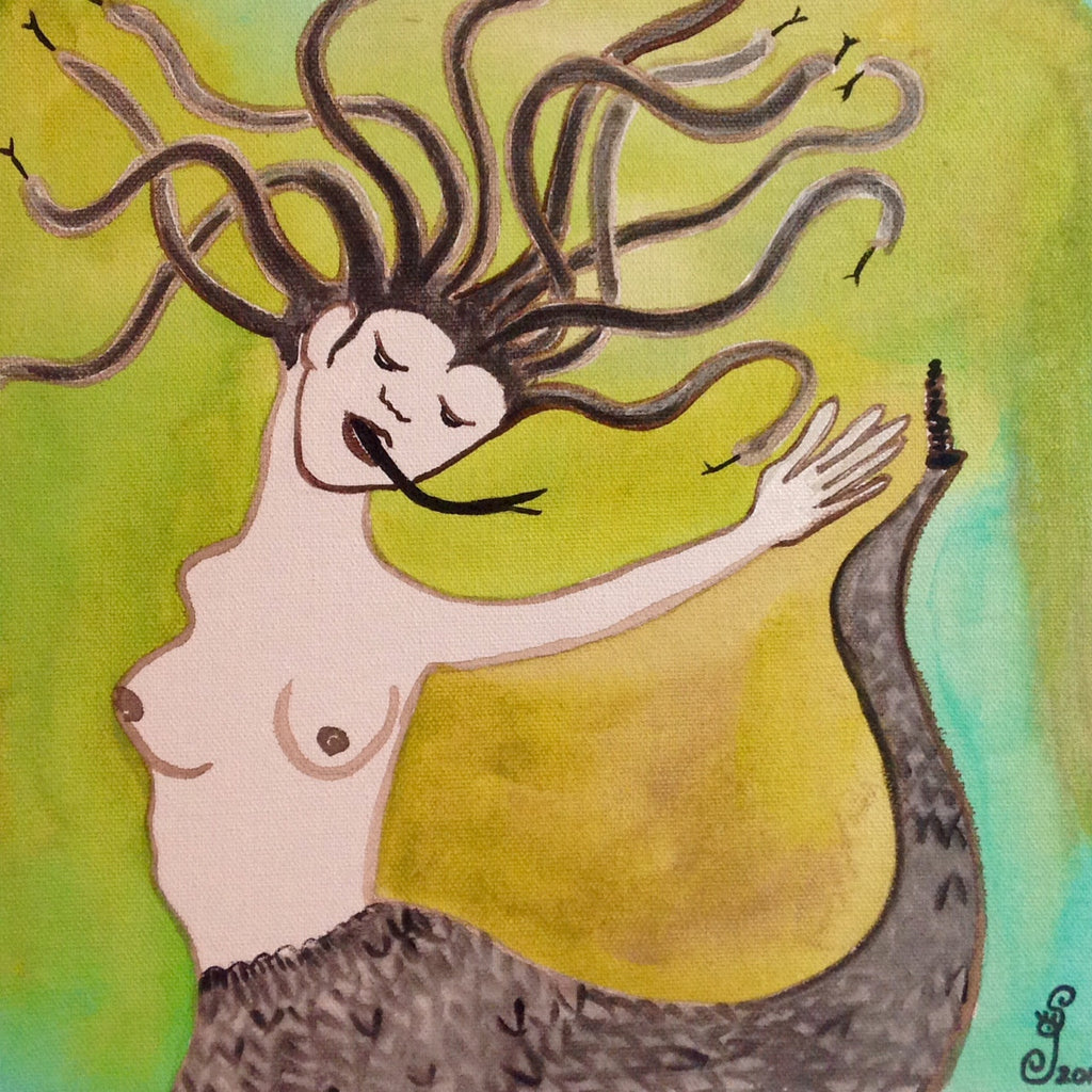 Day 116- Medusa- Tribute to Leonor Fini