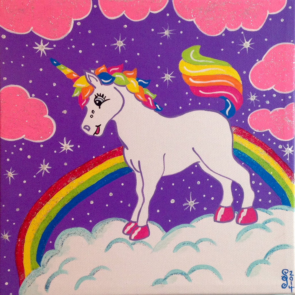 Day 123- Unicorn in the Sky- Tribute to Lisa Frank