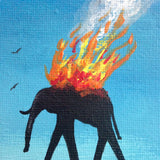 Day 350- The Burning Elephants- Tribute to Salvador Dali (Reserved for Rella German)