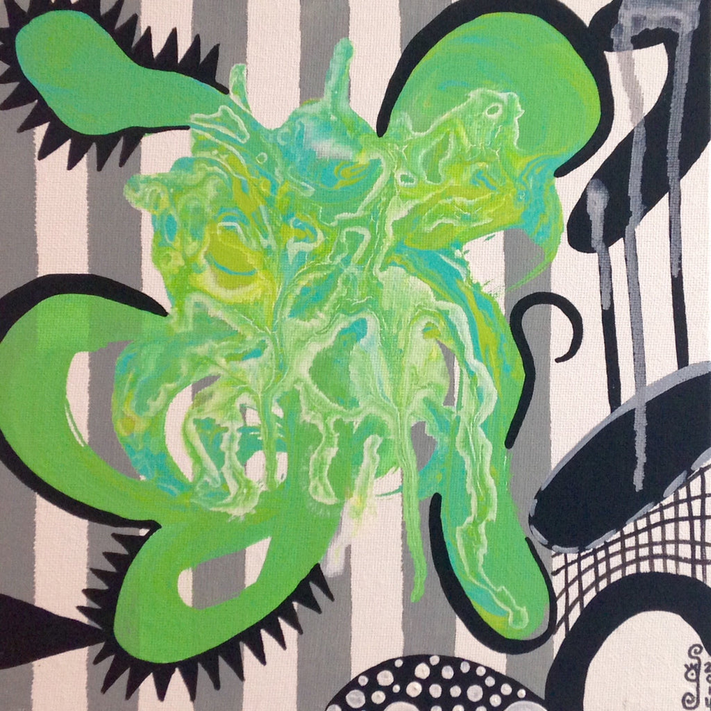 Day 104- Green Therapy- Tribute to Charline von Heyl