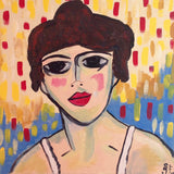 Day 140- Portrait of a Woman- Tribute to Maurice de Vlaminck