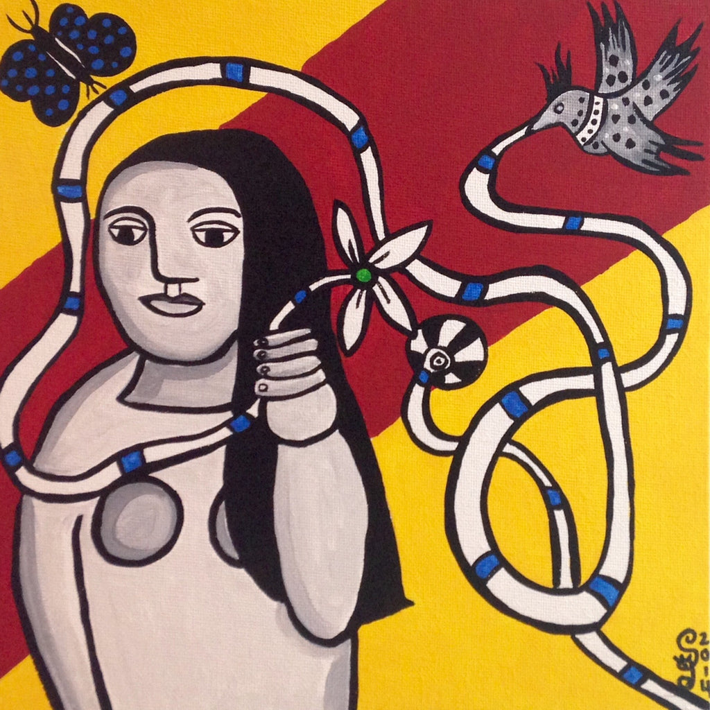 Day 115- Femme Dans La Nature- Tribute to Fernand Leger