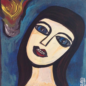 Day 105- Look into the Flames- Tribute to Georges Rouault