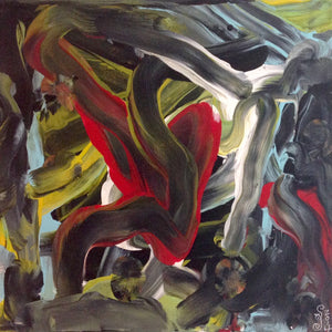 Day 156- Akai Hi- Tribute to Kazuo Shiraga