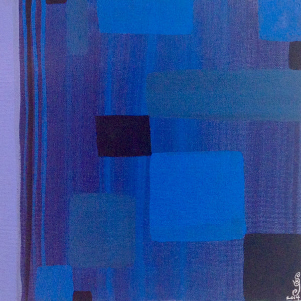 Day 106- Blue Painting- Tribute to Ad Reinhardt