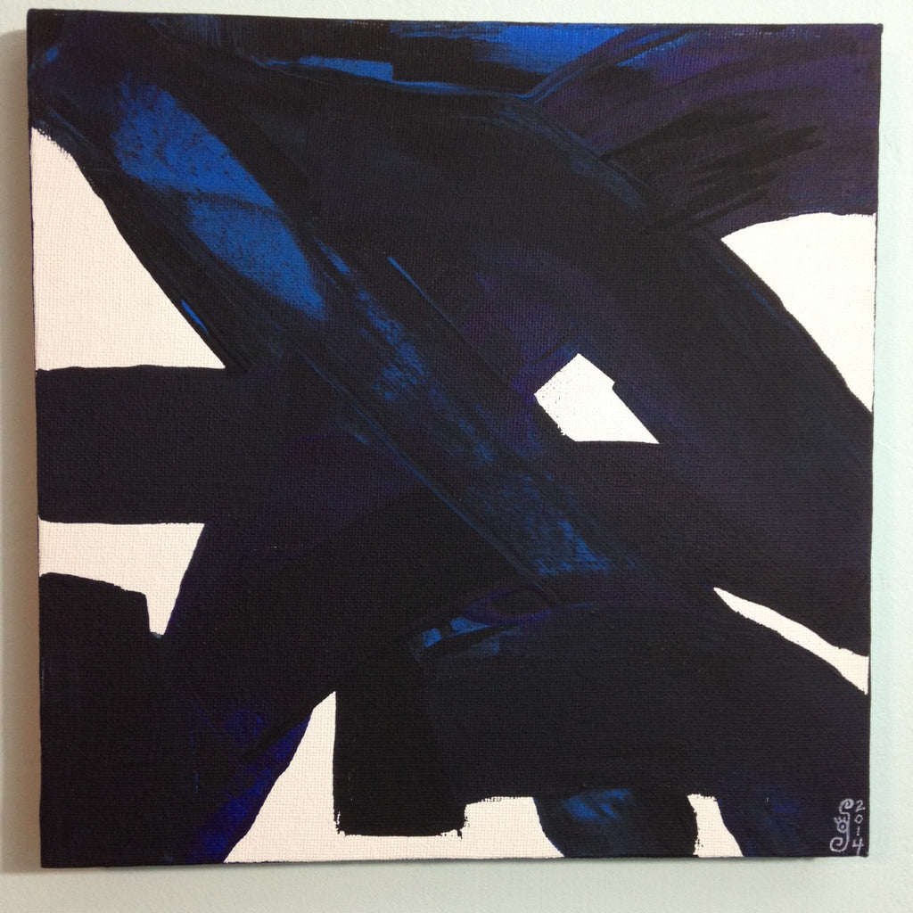 Day 134- Peinture CXXXIV- Tribute to Pierre Soulages