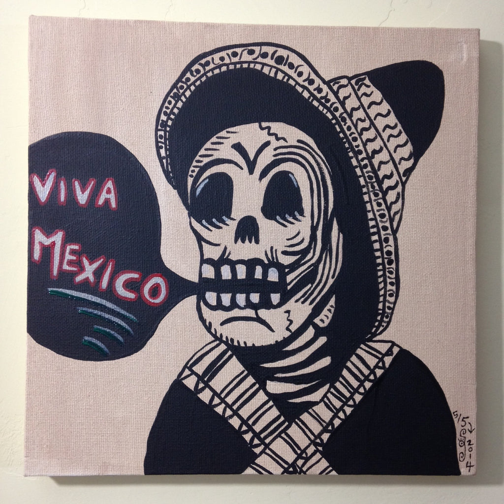 Day 125- Viva Mexico- Tribute to José Guadalupe Posada (Reserved for Stefan Mendez)