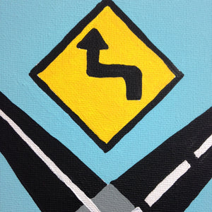 Day 127- Intersection- Tribute to Allan D'Arcangelo