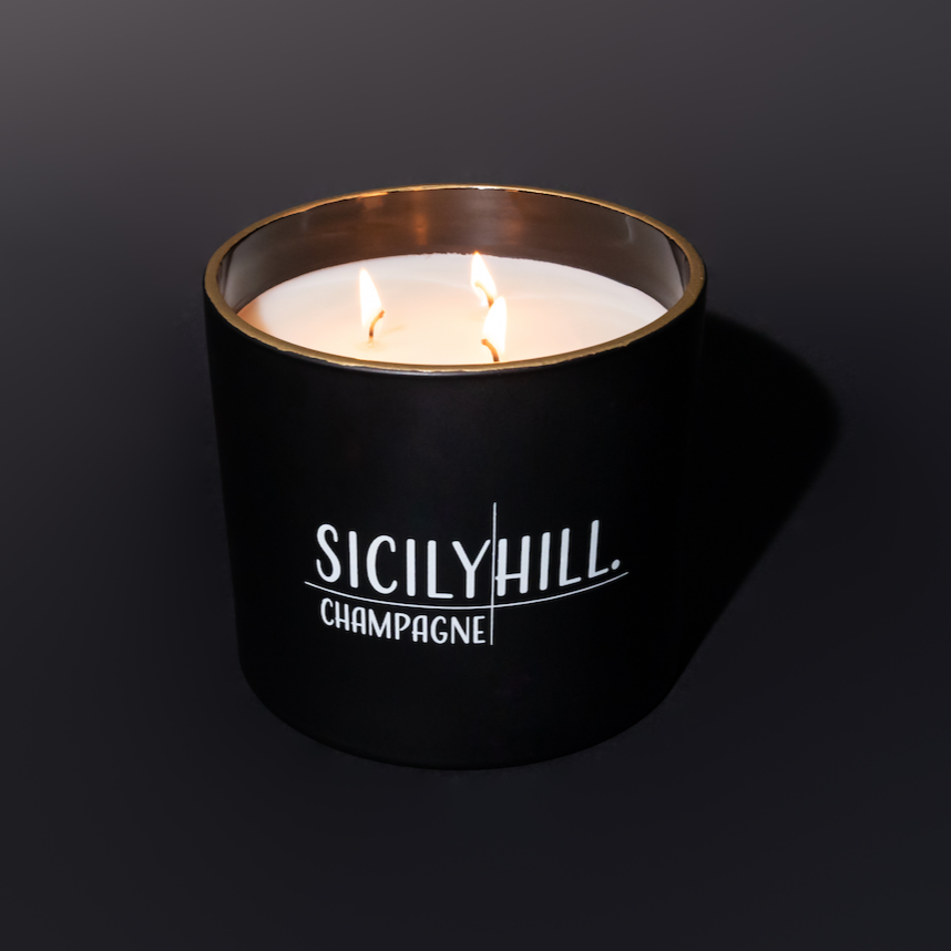 26 oz. Champagne Candle - Sicily Hill