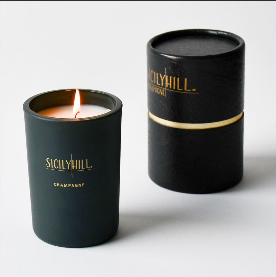 Champagne Soy Candle - Sicily Hill