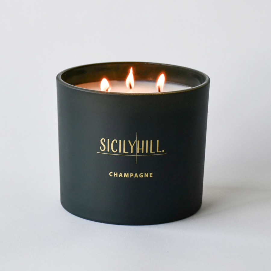 Champagne Triple Wick Candle