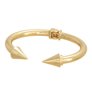 GOLD TONE POINTED HINGED BRACELET