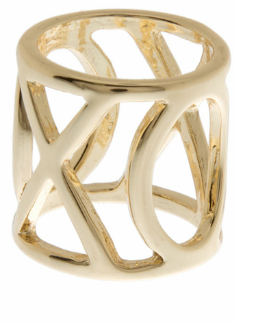 GOLD XO RING