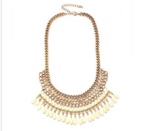 CREAM CLEOPATRA NECKLACE