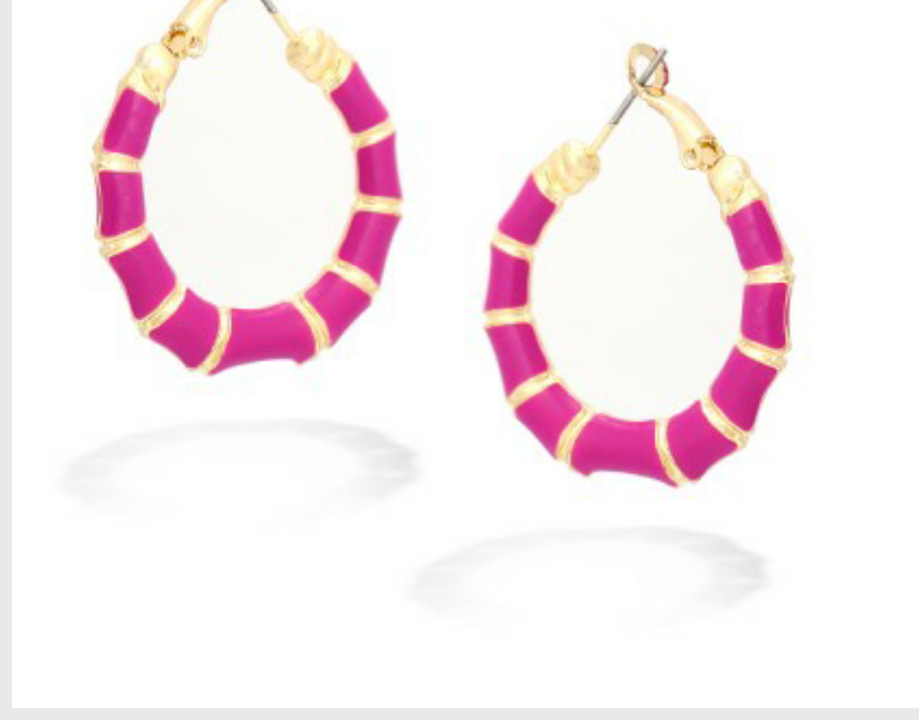 FUCHSIA BAMBOO EARRINGS