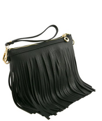 MINI FRINGED MESSENGER BAG