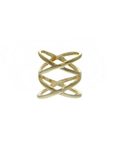 DOUBLE CRISS CROSS RING