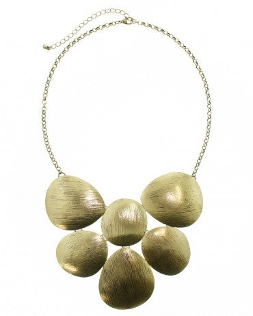 BRONZE BRUSHED BIB NECKLACE