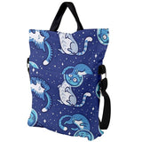 Cats in space Fold Over Tote Bag- Pigeon Overlord