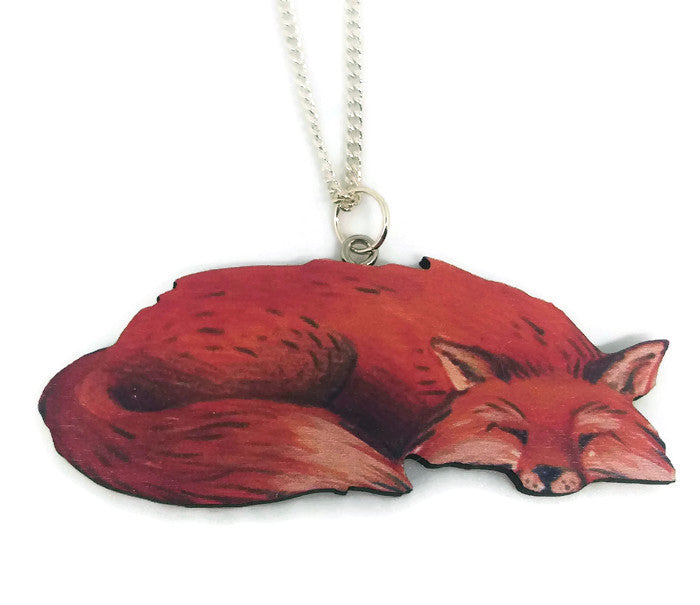 Sleeping Fox Necklace