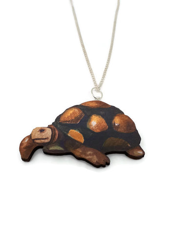Tortoise wooden necklace
