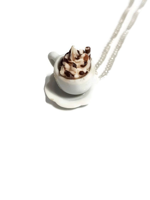 Cup of hot chocolate necklace