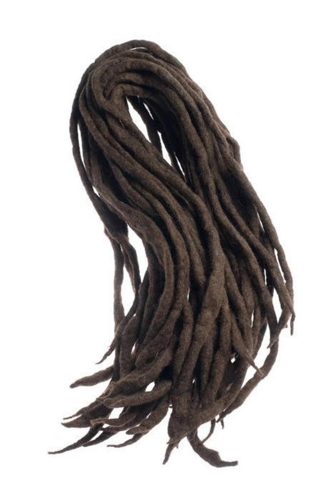 Dark brown natural wool dreads- Double Ended larp cosplay hair extensions Kit - Dragon Dreads