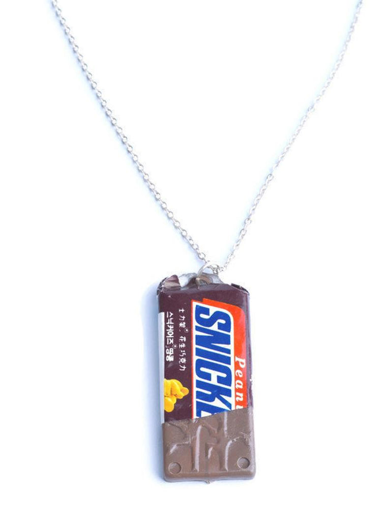 Snickers chocolate bar necklace
